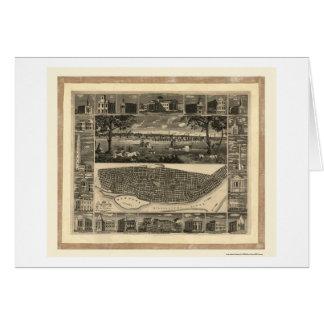 St Louis, carte panoramique de MOIS - 1848