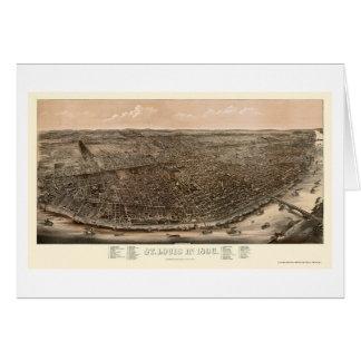 St Louis, carte panoramique de MOIS - 1896