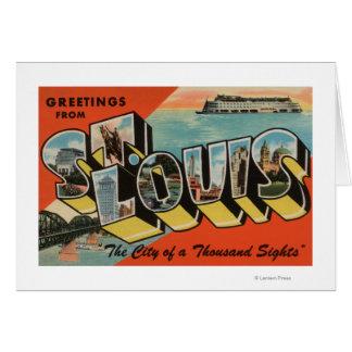 St Louis, Missouri - grandes scènes de lettre Carte De Vœux