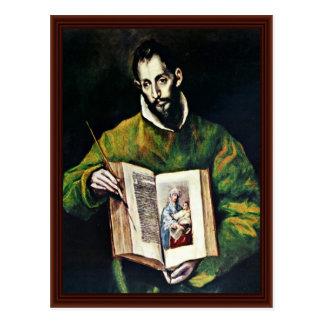 St Luke comme peintre par EL de Greco Cartes Postales