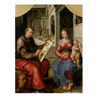St Luke peignant la Vierge, c.1545 Carte Postale