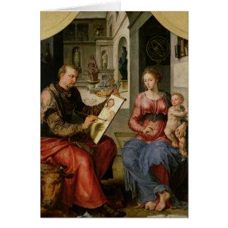 St Luke peignant la Vierge, c.1545 Cartes