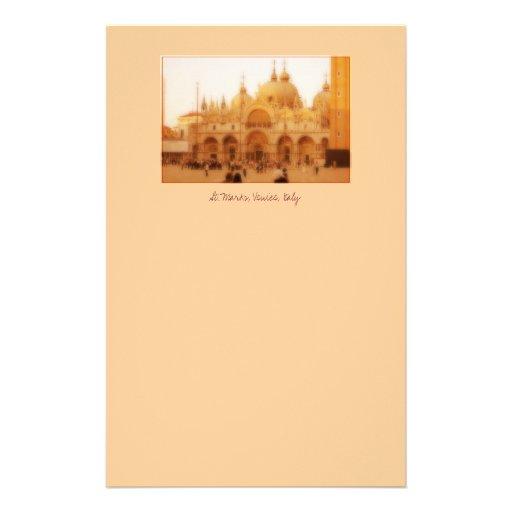 St Marques, Venise, Italie Papier À Lettre Customisable