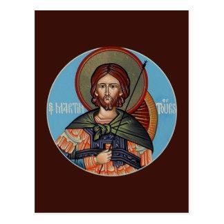 St Martin de carte de prière de visites