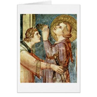 St Martin de prière par Simone Martini Cartes