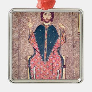 St Martin des visites, détail d'un autel Ornement Carré Argenté