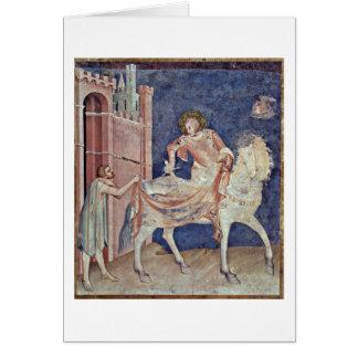 St Martin divisant son manteau par Simone Martini Cartes