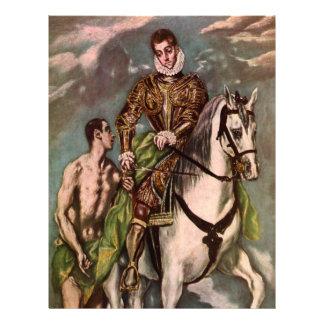 St Martin et le mendiant d'El Greco, circa 1600 Tract Customisé