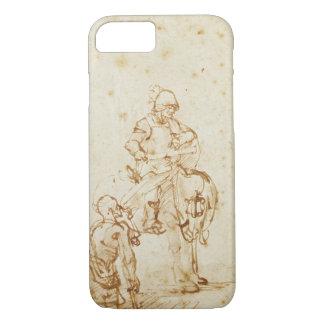 St Martin et le mendiant (stylo et encre sur le Coque iPhone 7