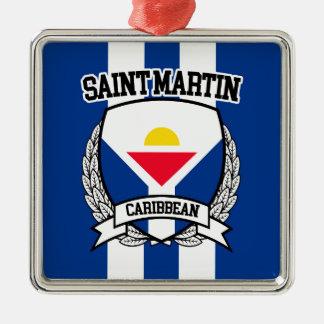 St Martin Ornement Carré Argenté