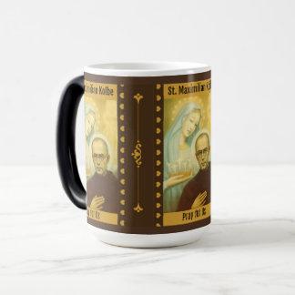 St Maximilian Kolbe avec Vierge Marie et la Mug Magic