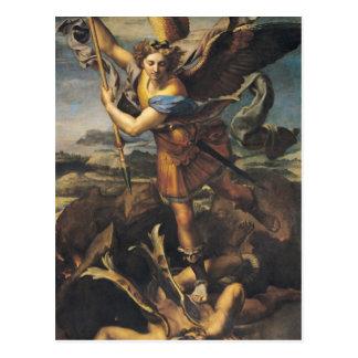 St Michael accablant le démon, 1518 Carte Postale