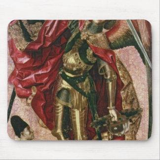 St Michael et le dragon Tapis De Souris