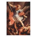 St Michael la carte de prière d'Arkhangel Carte De Visite Grand Format