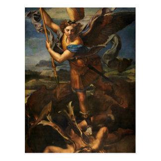 St Michael vainquant Satan Carte Postale