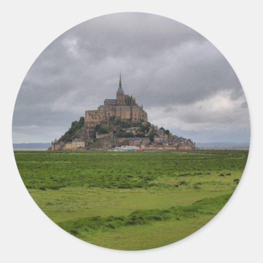 St Michel de Mont Autocollant Rond