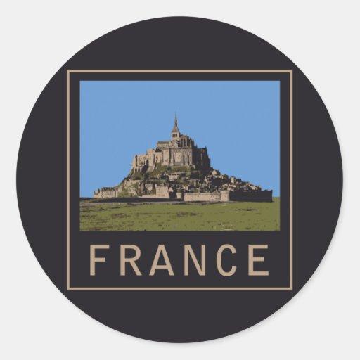St Michel de Mont Autocollants Ronds