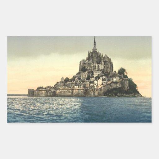 St Michel de Mont II, Normandie, France Sticker En Rectangle