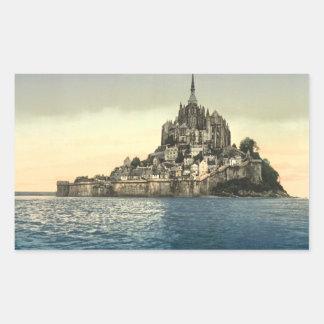 St Michel de Mont II, Normandie, France Sticker Rectangulaire