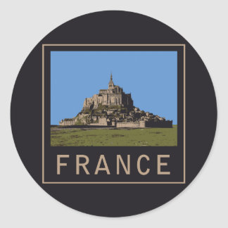 St Michel de Mont Sticker Rond