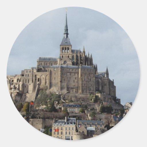 St Michel, France de Mont Adhésifs Ronds