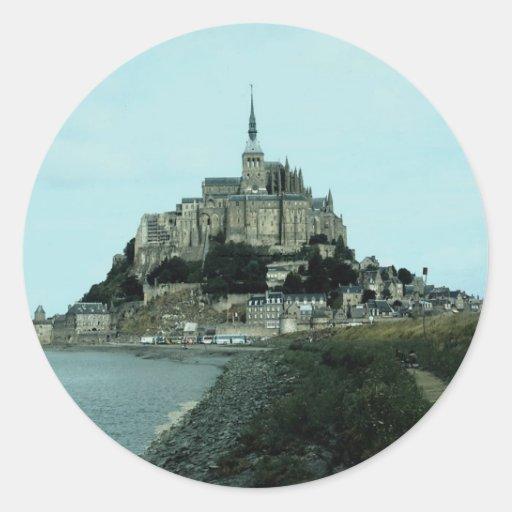 St Michel, Normandie, France de Mont Autocollant Rond