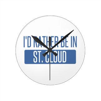 St Nuage Horloge Ronde