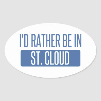 St Nuage Sticker Ovale