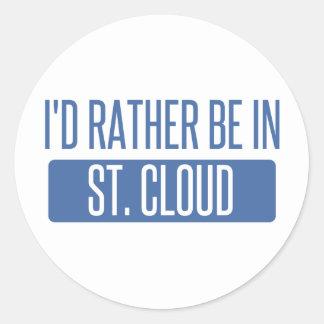 St Nuage Sticker Rond