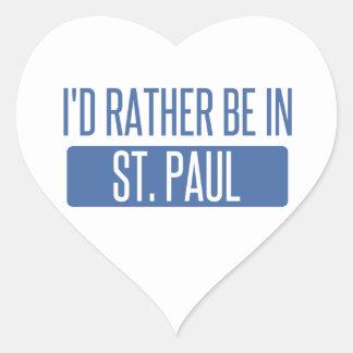 St Paul Sticker Cœur