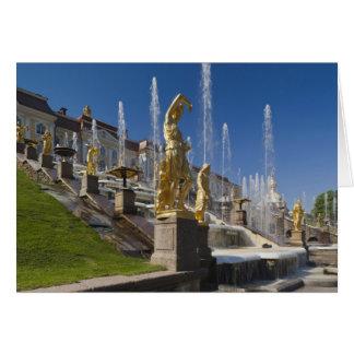 St Petersbourg, fontaines grandes 12 de cascade Carte De Vœux