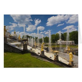 St Petersbourg, fontaines grandes 6 de cascade Carte De Vœux