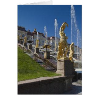 St Petersbourg, fontaines grandes de cascade Carte De Vœux