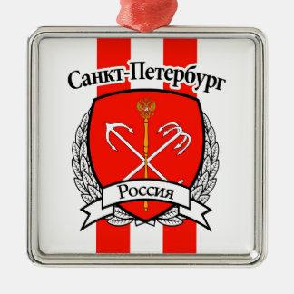 St Petersbourg Ornement Carré Argenté