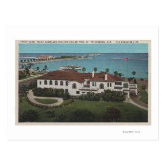 St Petersburg, la Floride - antenne de yacht Carte Postale