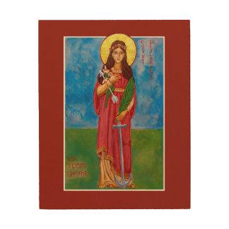 """St Philomena 8"""" x 10"""" icône en bois d'impression Impressions Sur Bois"""