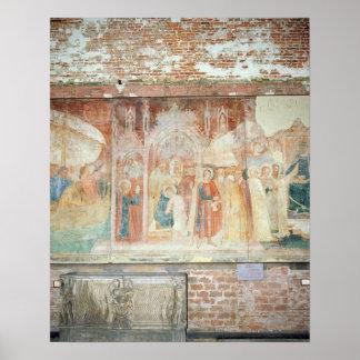 St Ranieri dans la Terre Sainte, moitié du 14ème s Posters