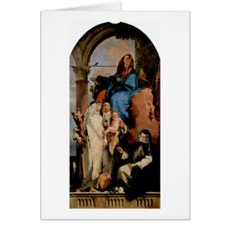 St.Rosa garde l'enfant par Giovanni Battista Cartes