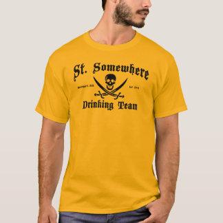 St T-shirt quelque part potable d'équipe