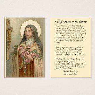 St Therese de cru les petites cartes de Novena de