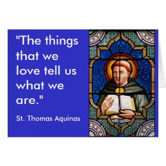 St Thomas Aquinas Carte De Vœux