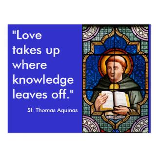 St Thomas Aquinas Carte Postale