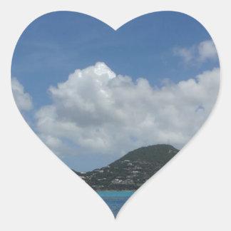 St Thomas États-Unis Îles Vierges Sticker Cœur