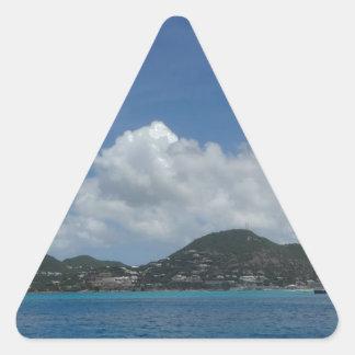 St Thomas États-Unis Îles Vierges Sticker Triangulaire
