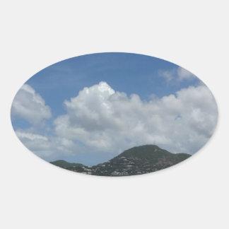 St Thomas États-Unis Îles Vierges Sticker Ovale