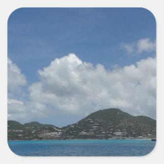 St Thomas États-Unis Îles Vierges Sticker Carré