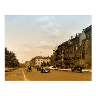 St vintage Boston de Commonwealth de photo d'art Carte Postale