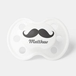 Stache noir drôle de moustache de guidon personnal tétines pour bébé