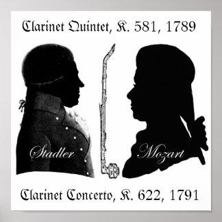 Stadler et affiche de Mozart