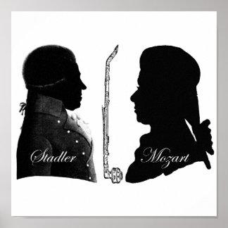 Stadler et Mozart Poster